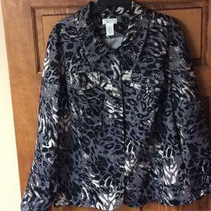 Laura Ashley button front shirt jacket!